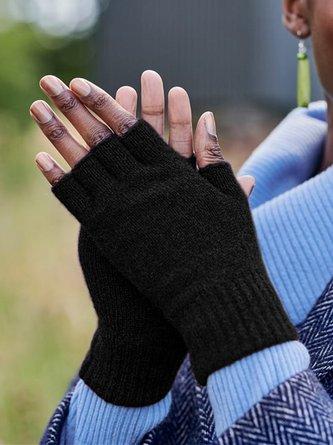 Guantes Retros Con Personalidad Liso Sin Dedos Casual