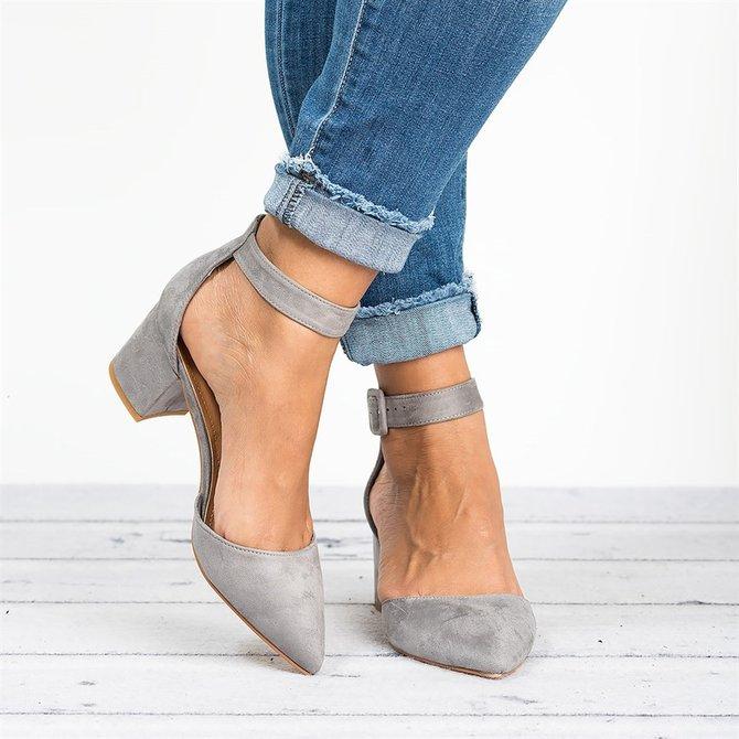 Zapatos de tacon grueso tendencia verano 2016 (21