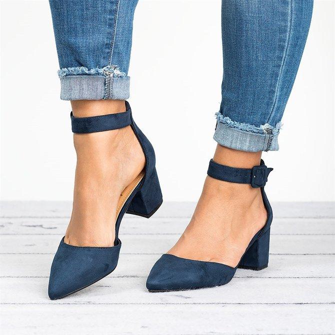 Zapatos A Tobillo De Tacón Grueso   Mujer   Aws.yivette