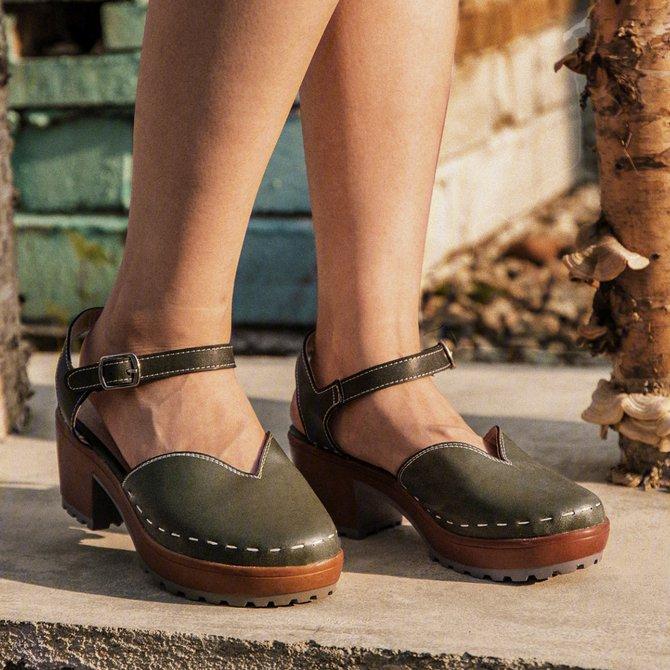 Sandalias De Tacón Grueso Hebilla Ajustable Verano   Mujer